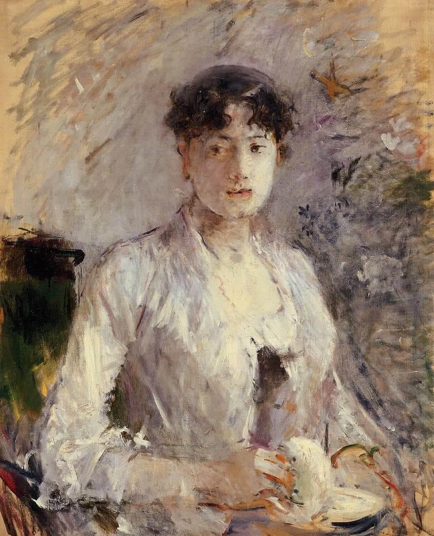 """""""אישה צעירה בסגול בהיר"""" מאת ברט מוריסוט"""